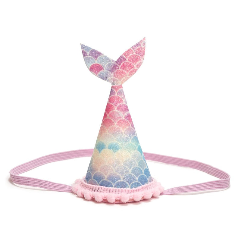 Mermaid Tail Crown- Rainbow Scales