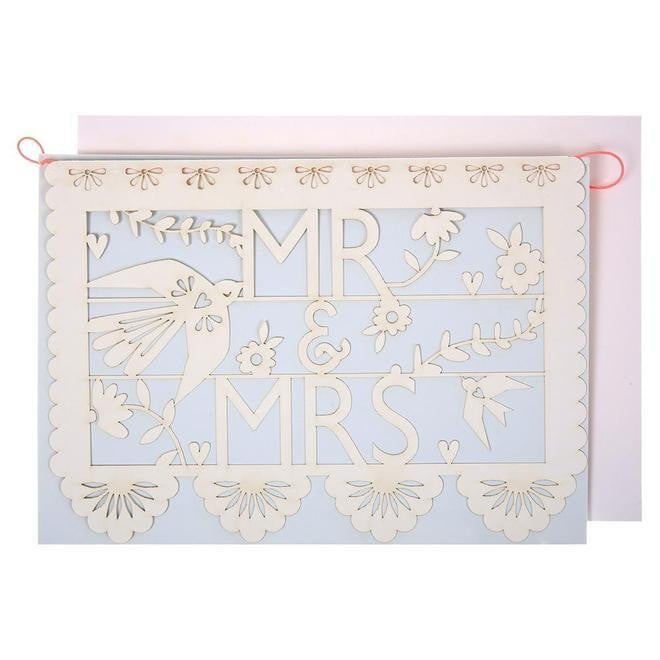 Mr And Mrs Cut Out Card