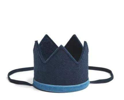 Waterlemon Kids - Boys Crown Navy and Light Blue - Crown