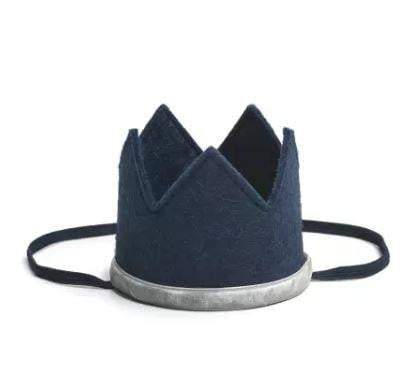 Waterlemon Kids - Boy Crown Navy and Gray - Crown