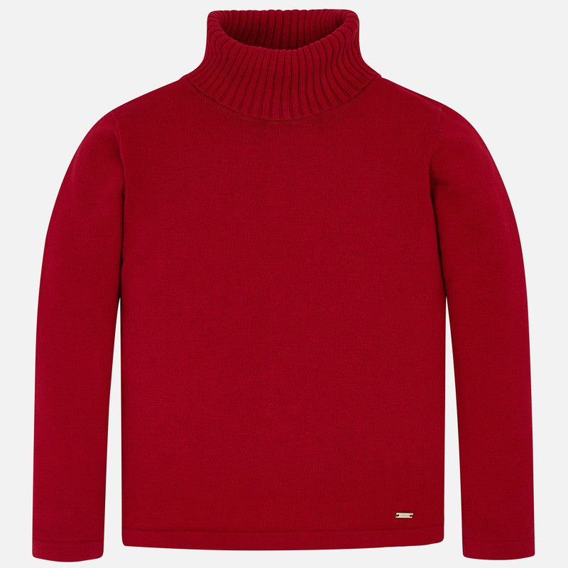Basic Knitting Turtle Neck- Red