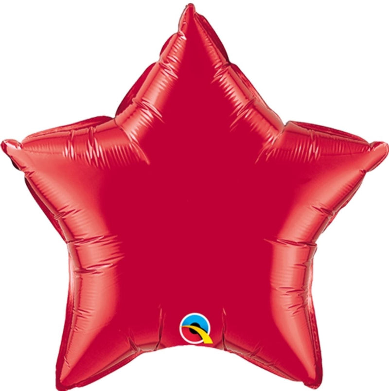 "Helium Foil Balloon- 36"" Ruby Red Star"