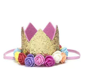 Waterlemon Kids - Flower Crown Gold Rainbow - Crown