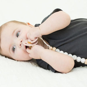 Sydney Stone Marble Pacifier Clip