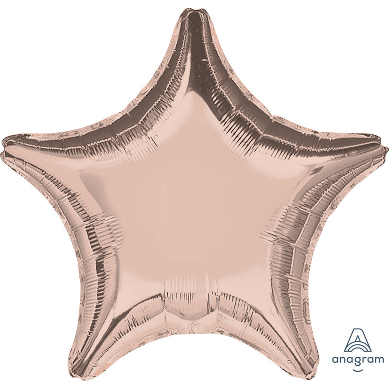 "Helium Foil Balloon- 18"" Rose Gold Star"
