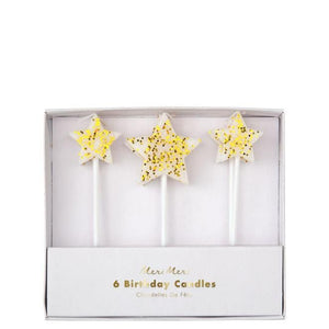 Waterlemon Kids - Gold Star Birthday Candle - Birthday Candle