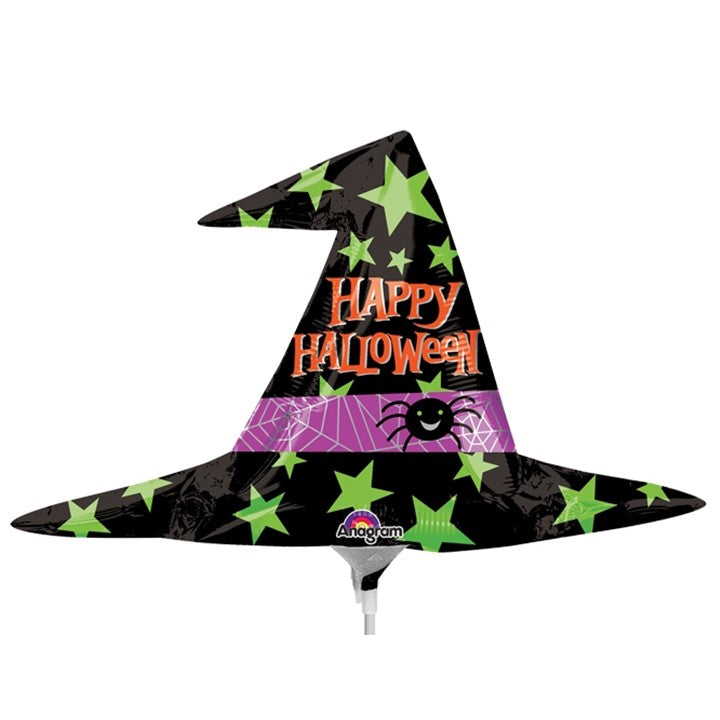 "Foil Balloon - Witch Hat 14"" Happy Halloween"