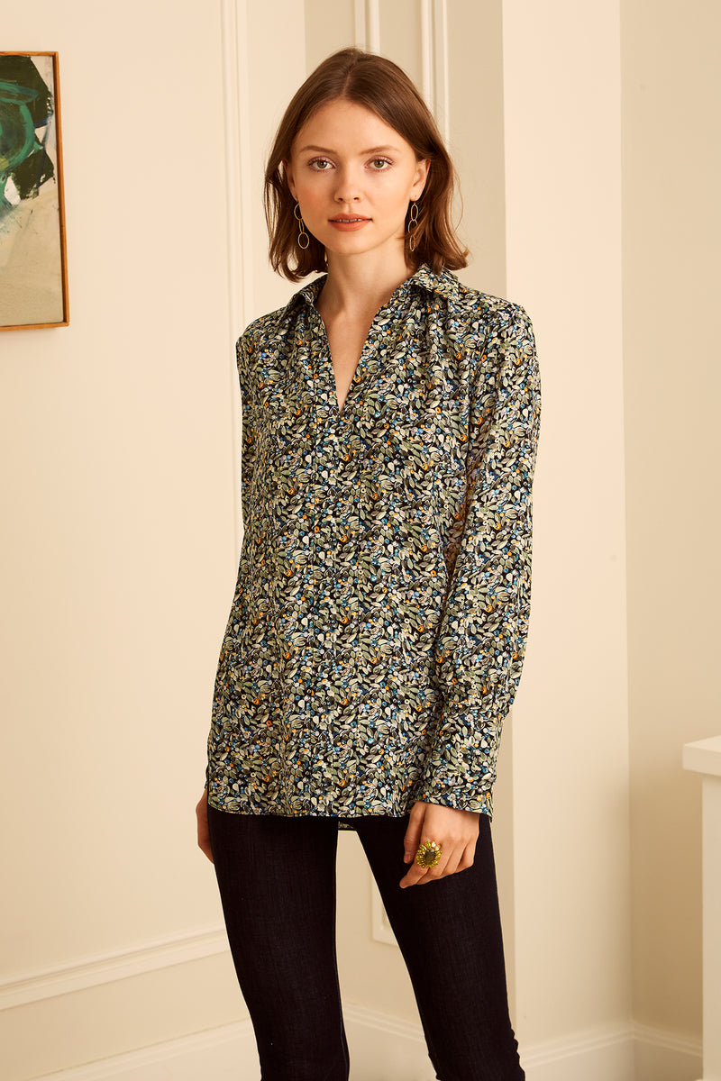 Laurel Blouse - Teal Berry