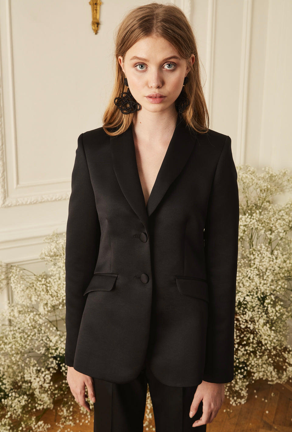 Shawl Collar Blazer - Black