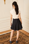 Fit and Flare Skirt - Navy