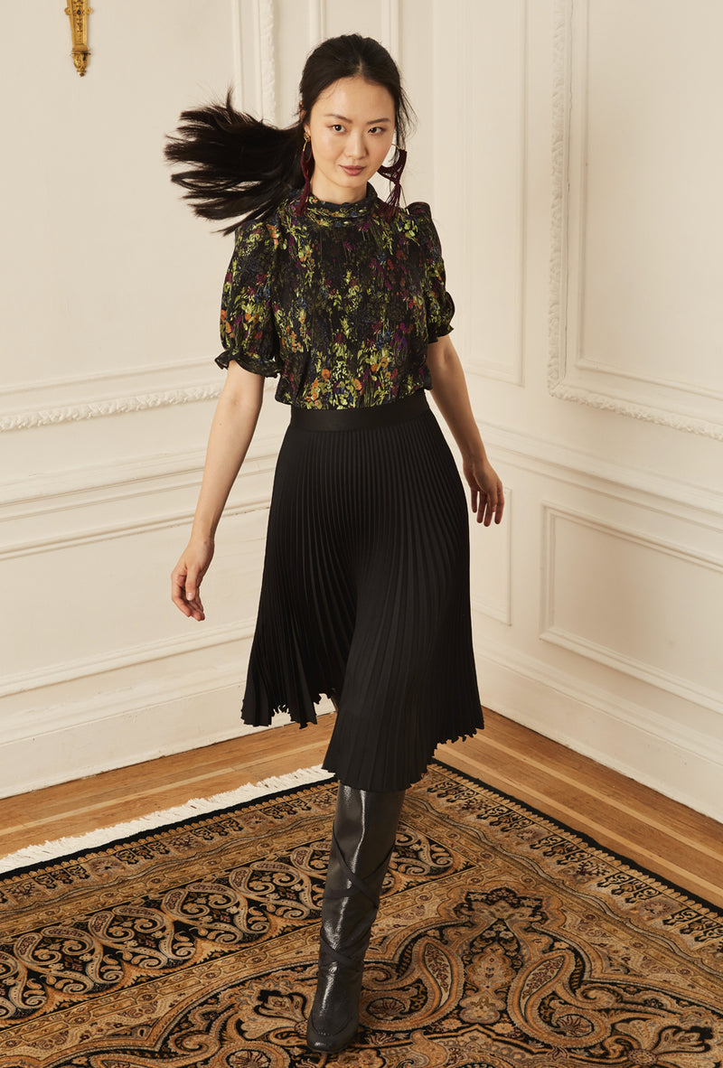 Pleated Skirt - Black