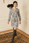 Classic Shirt Dress - Navy Reptile
