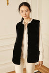 Rex Knit Back Vest - Black
