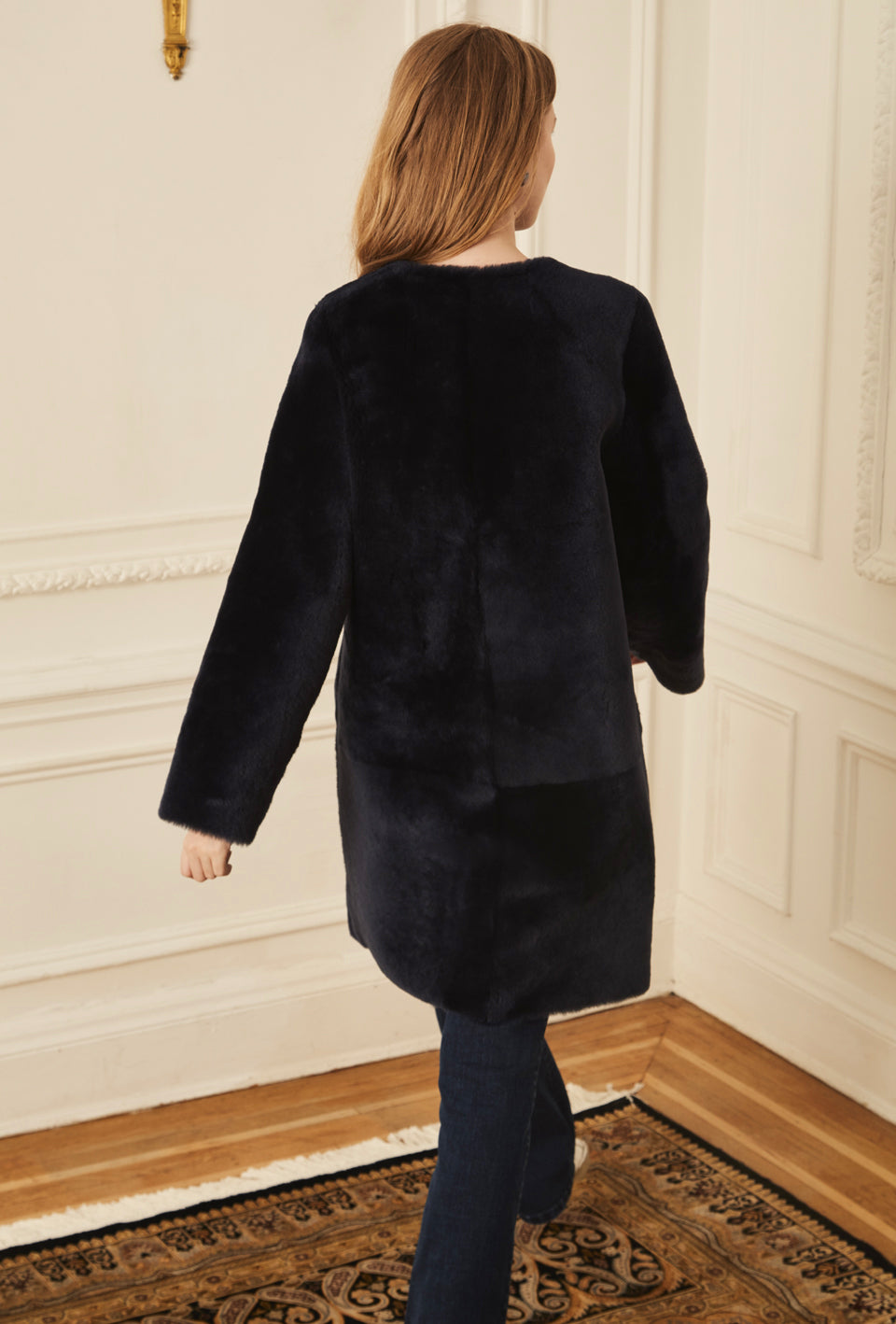 Reversible Shearling - Navy