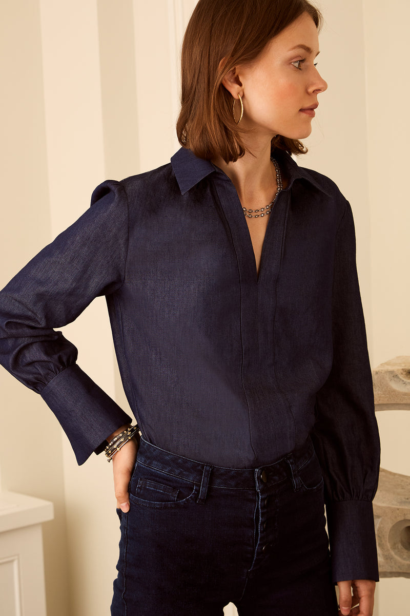 Laurel Blouse - Chambray