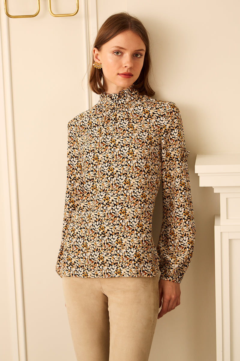 Volume Sleeve Blouse - Winter Berry