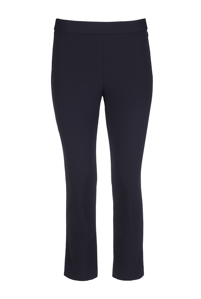 Side Slit Ankle Pant - Navy