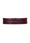 Fretwork Belt - Burgundy