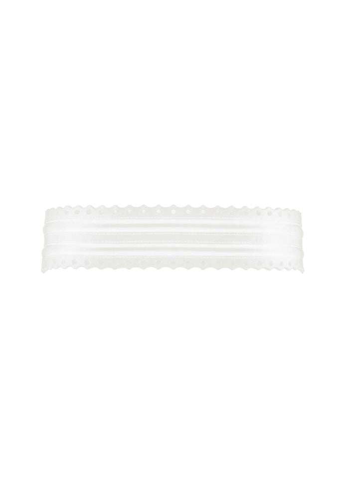 Fretwork Belt - White