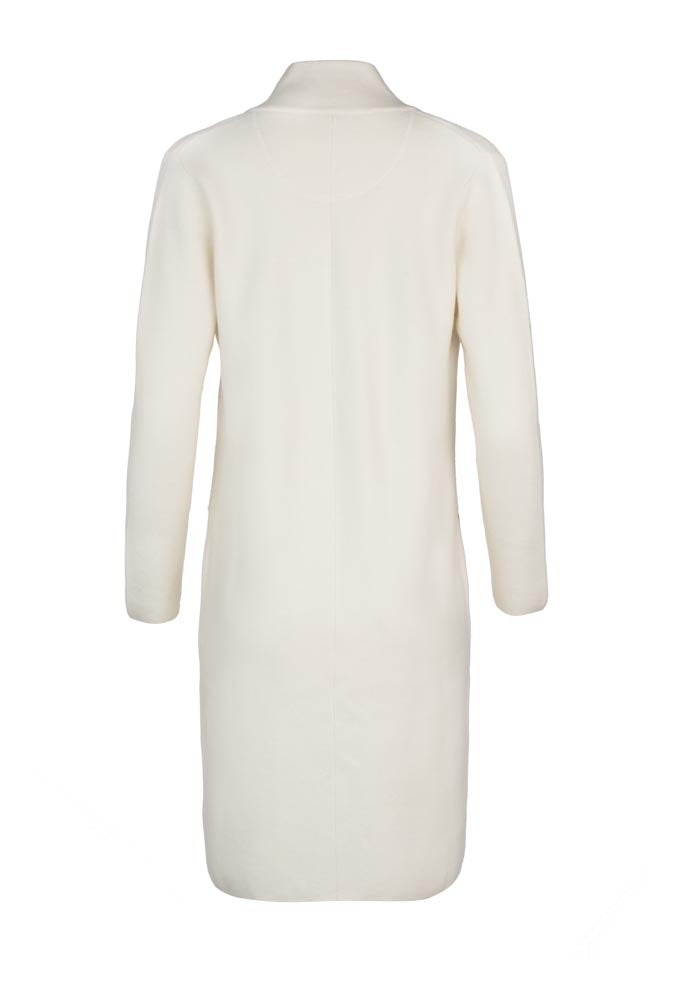 Notch Collar Cashmere Coat - Ivory