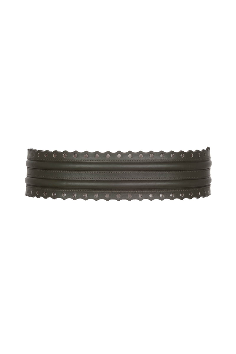 Fretwork Belt - Olive