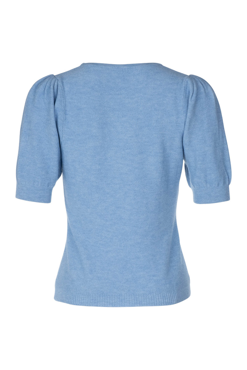 Ruched Sleeve Sweater - Tidal Wave