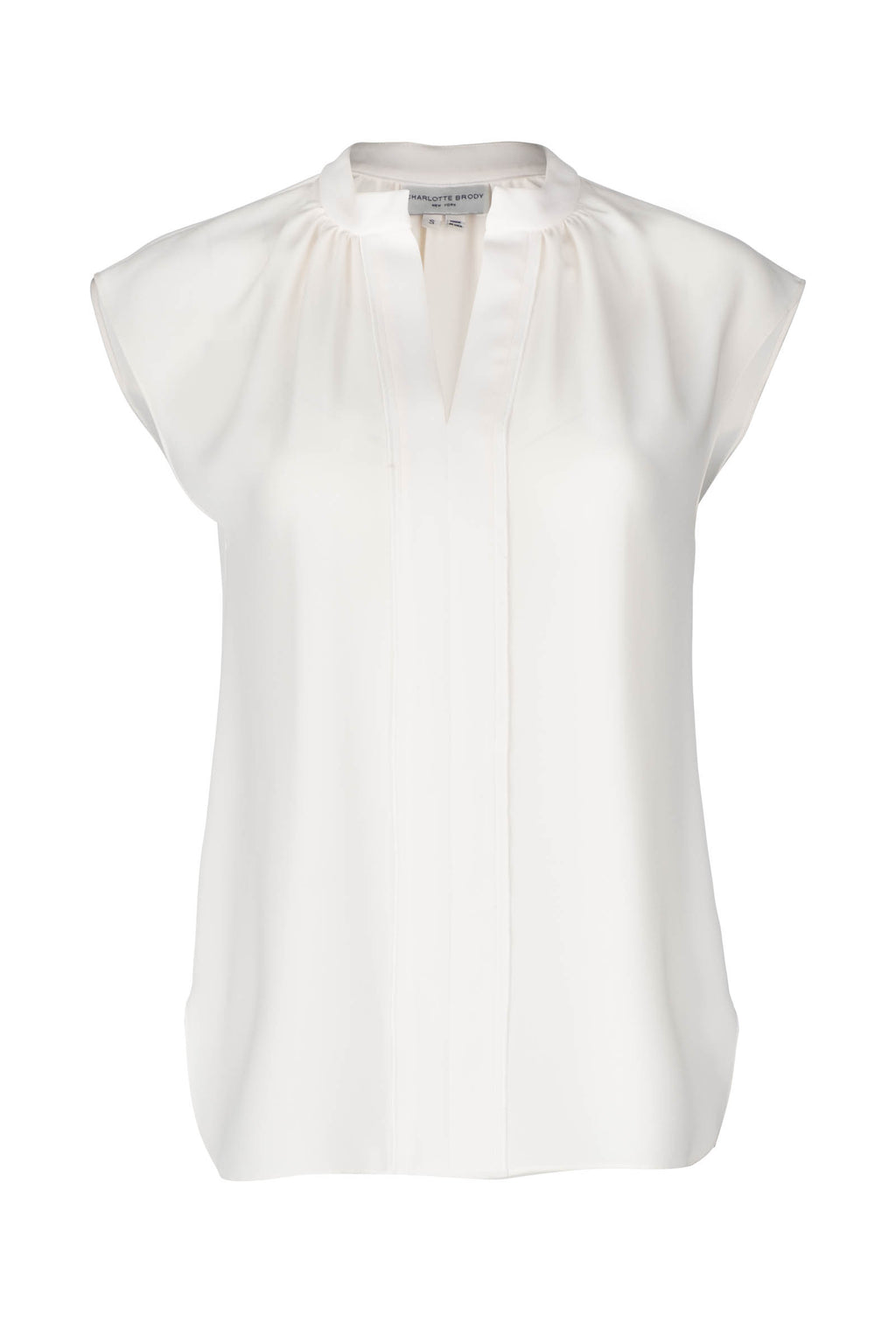Sleeveless Gathered Blouse - Ivory