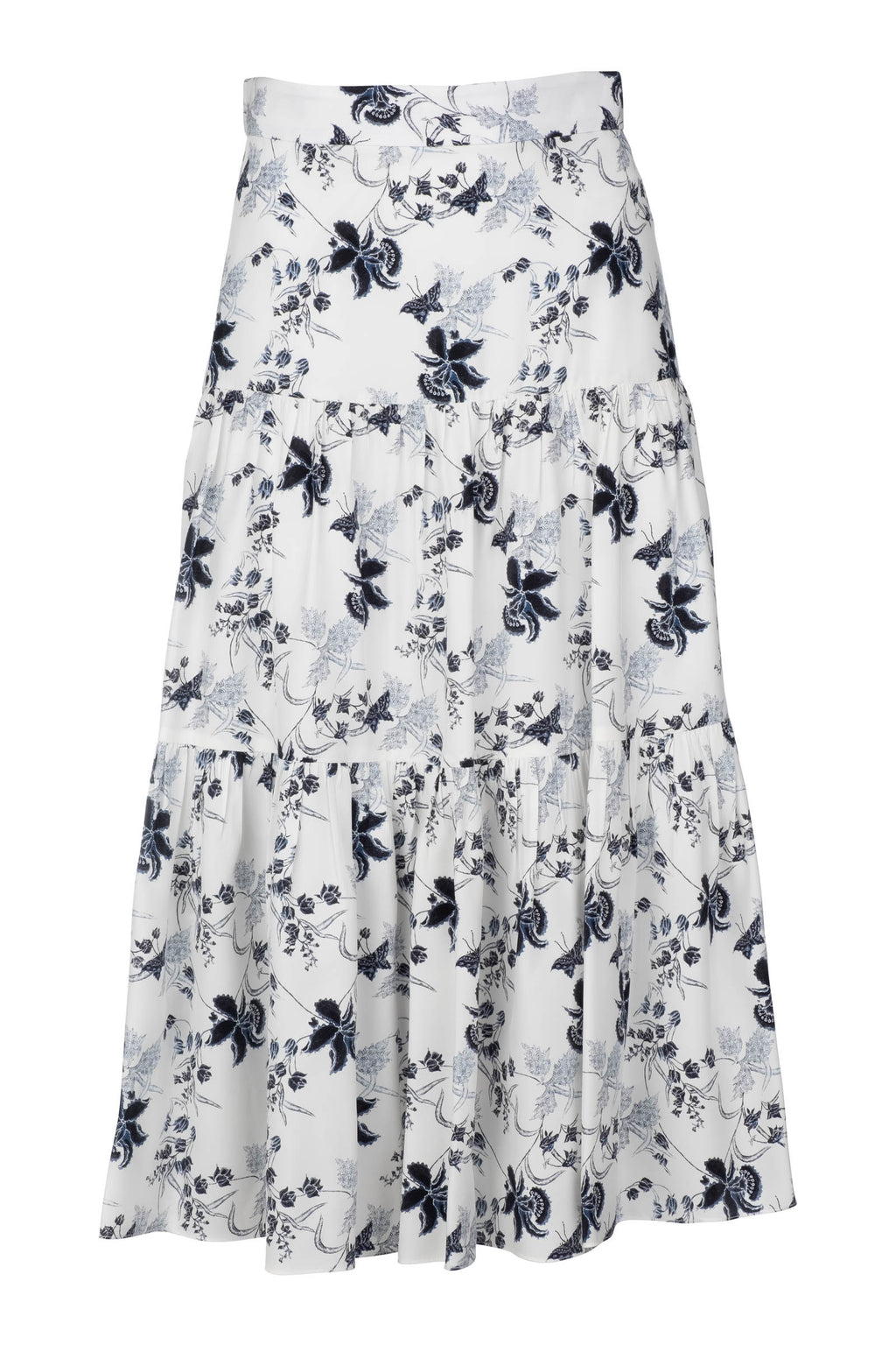 Tiered Midi Skirt - Butterfly Batik