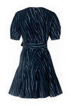 V-Neck Godet Dress - Navy Willow