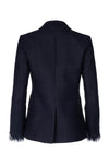 Shawl Collar Blazer - Navy Tweed