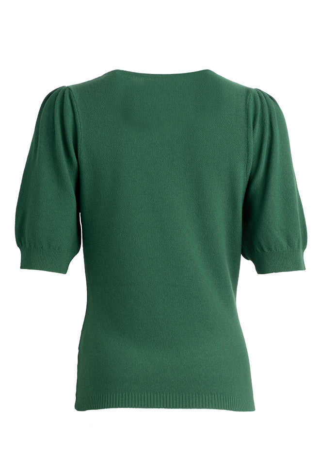 Ruched Sleeve Sweater - Treetop