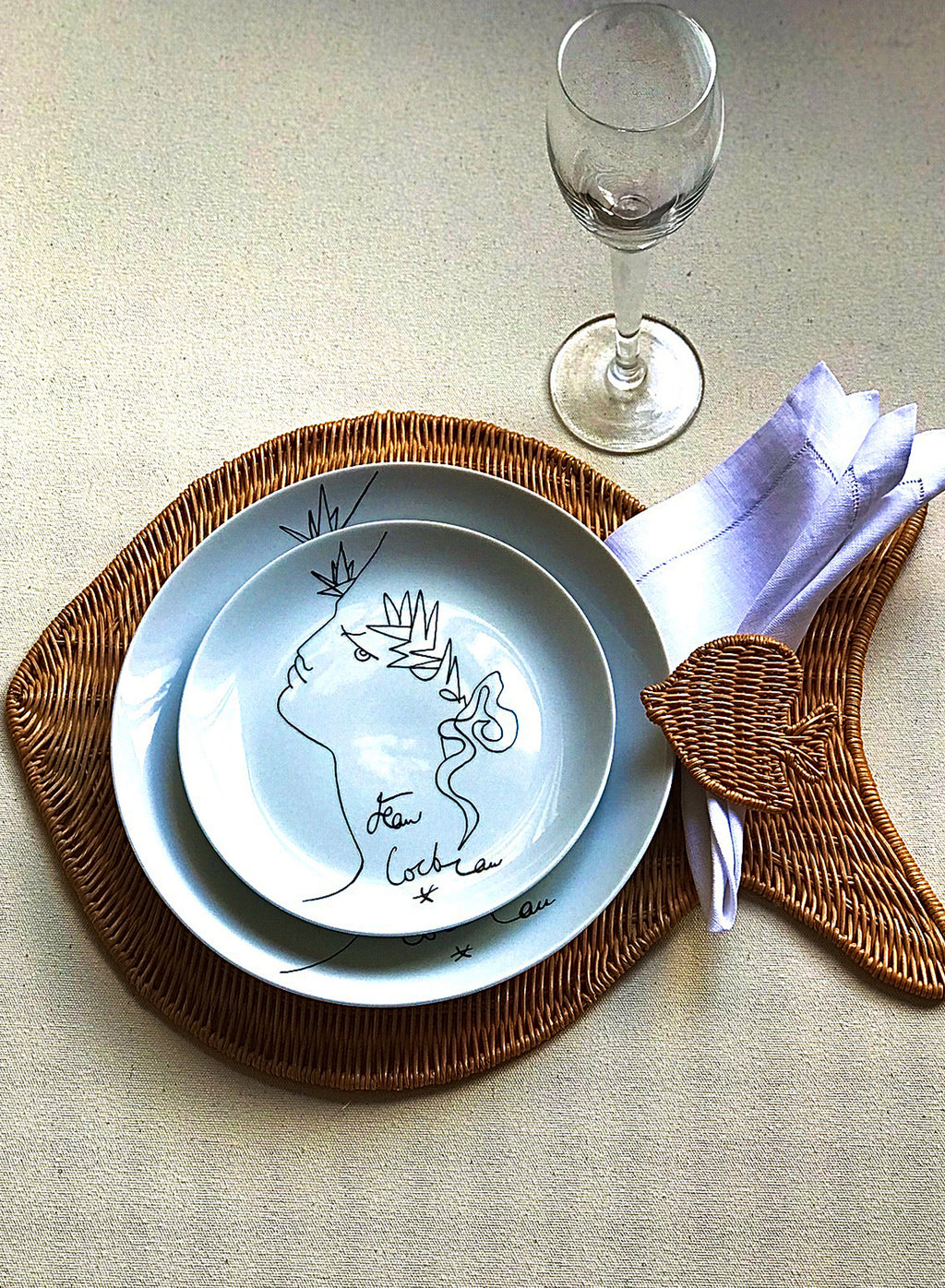 Fish Placemat - Natural