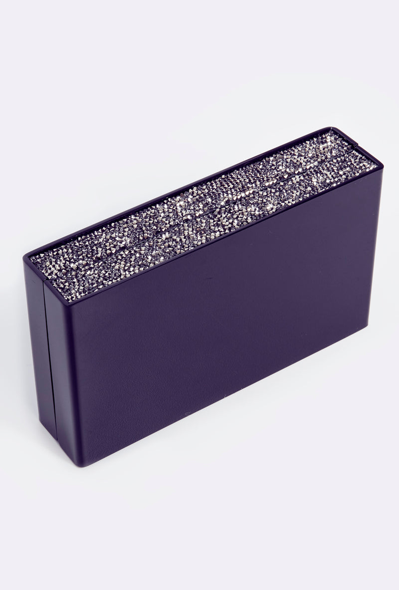 Box Clutch With Caviar Sparkle