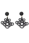 Chinoiserie Earrings - Black