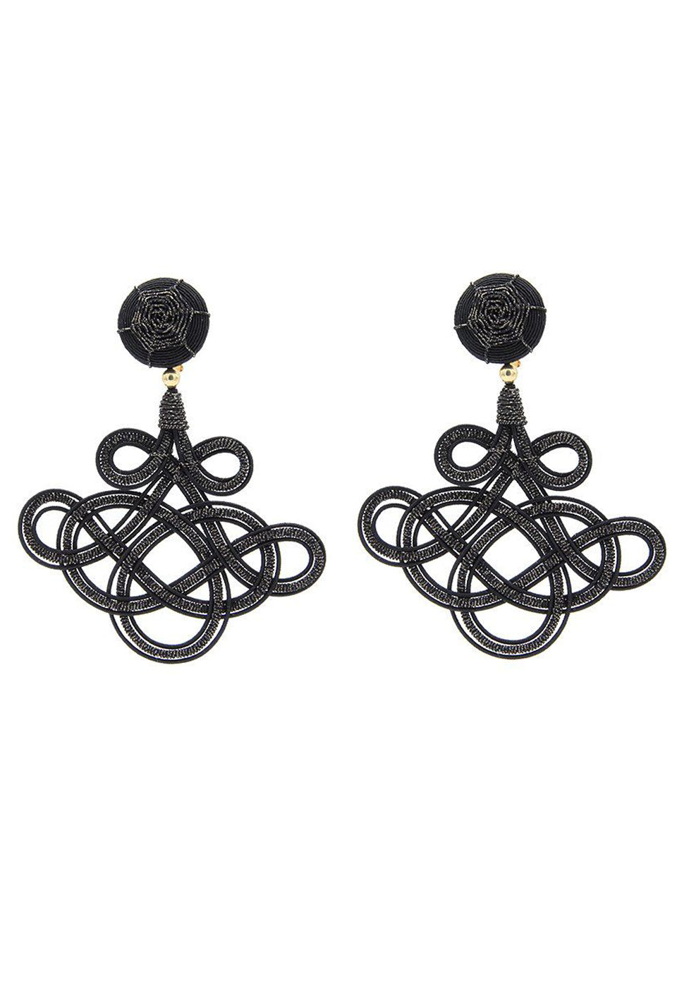 Chinoiserie Earring - Black