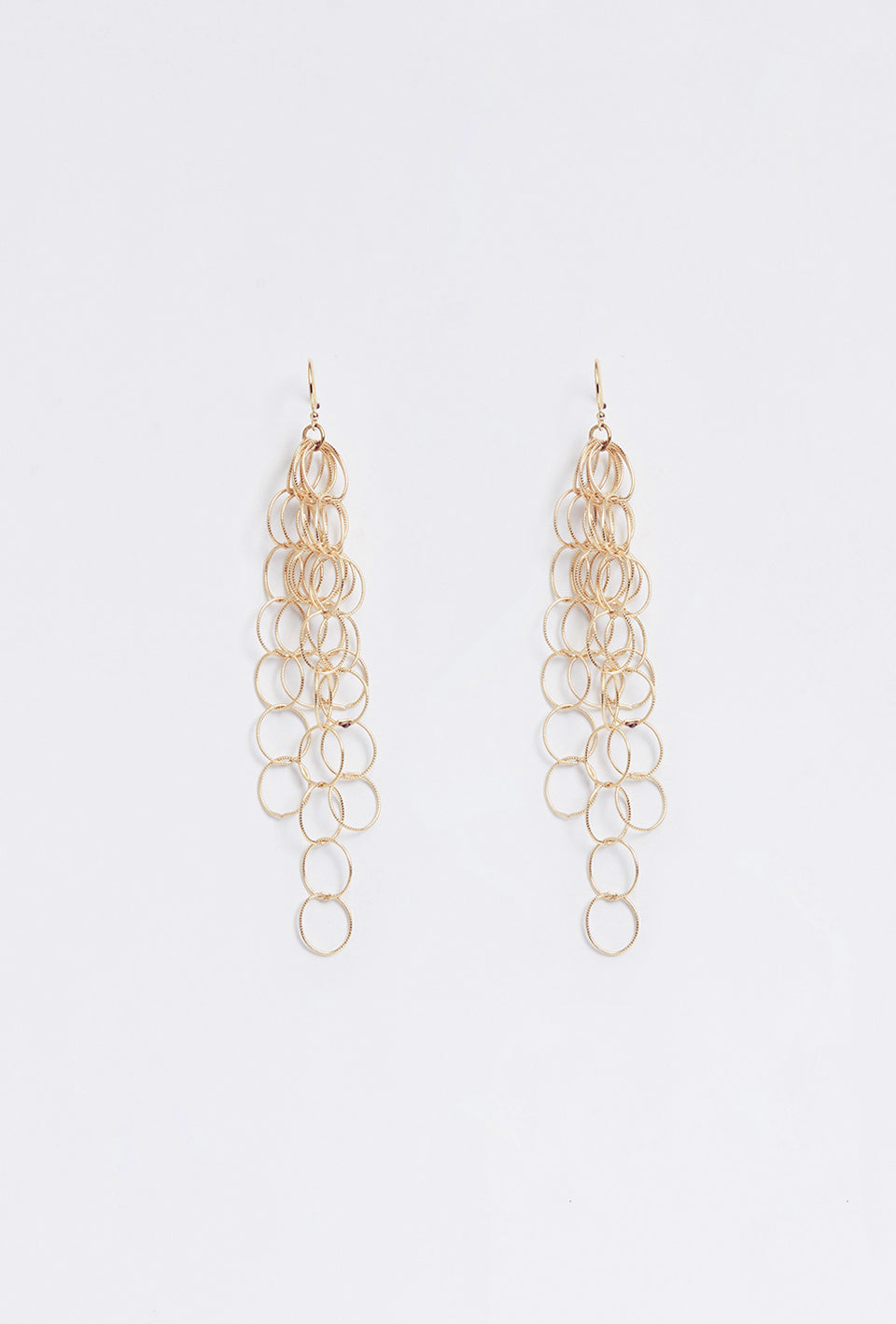 Cascading Link Earring - Gold