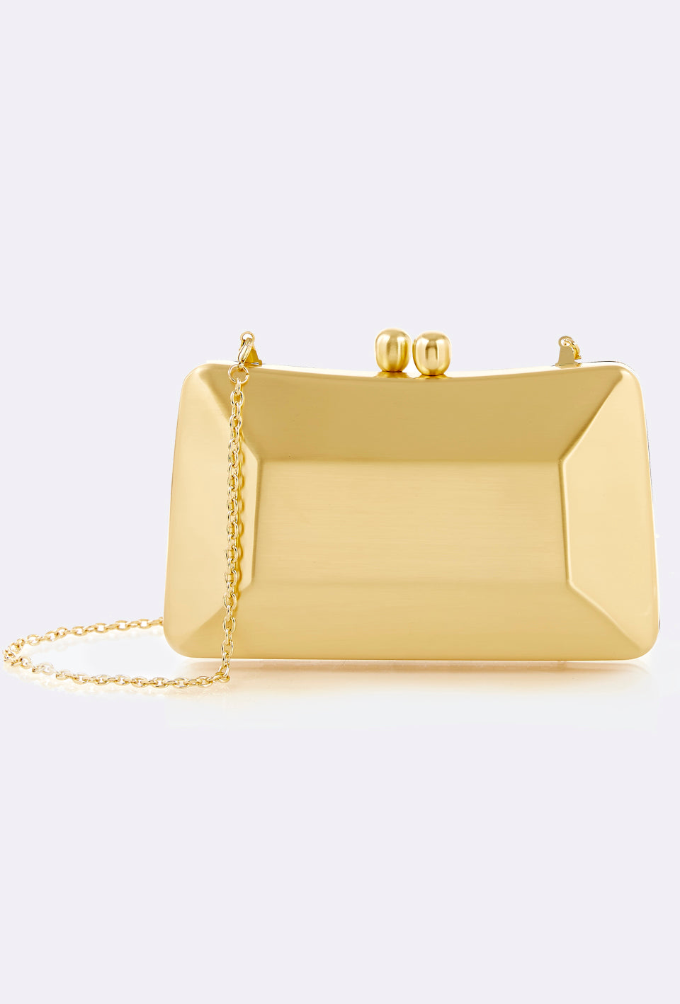 Brushed Matte Gold Clutch