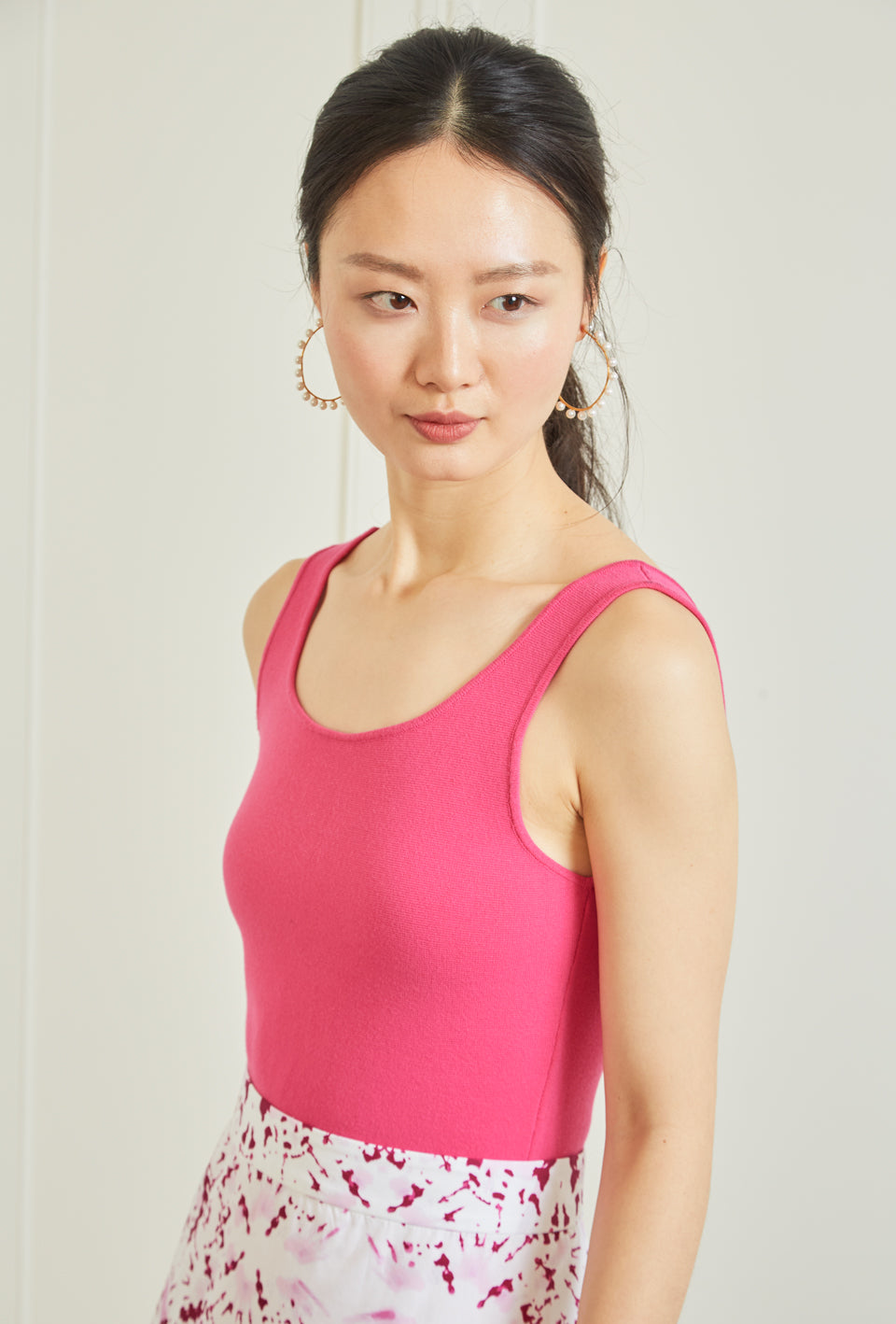 High Low Knit Tank - Hot Pink - Pre Order