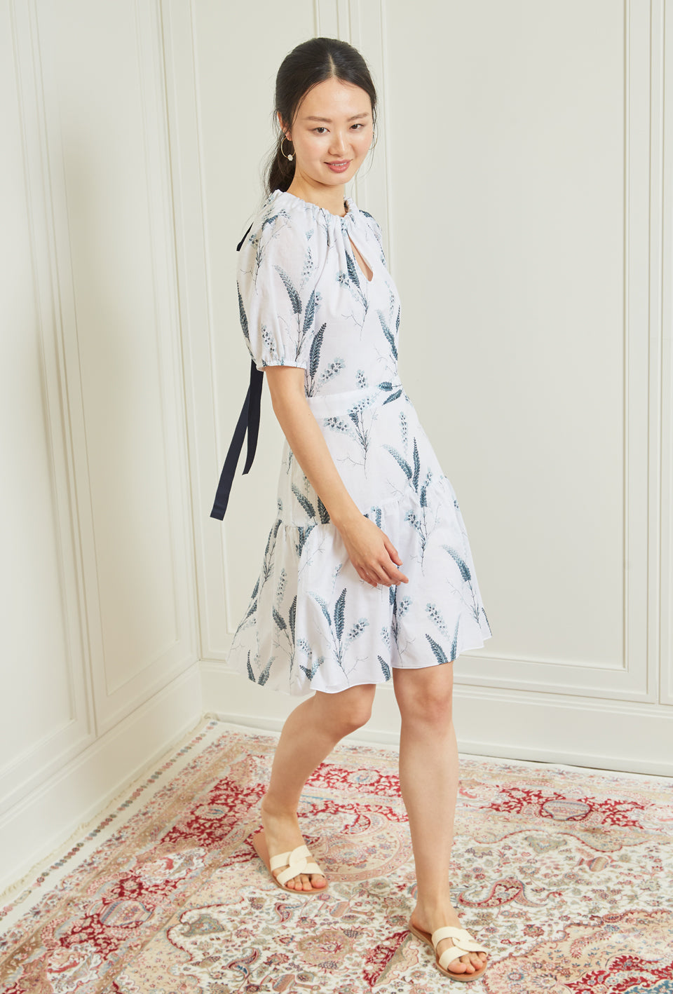 Clement Dress - Aegean Fern