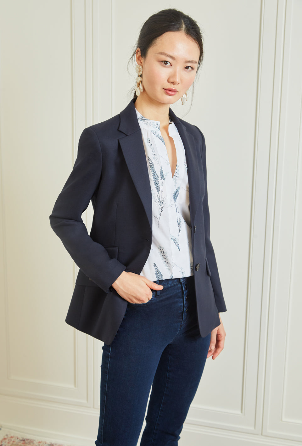 Double Vent Blazer - Navy