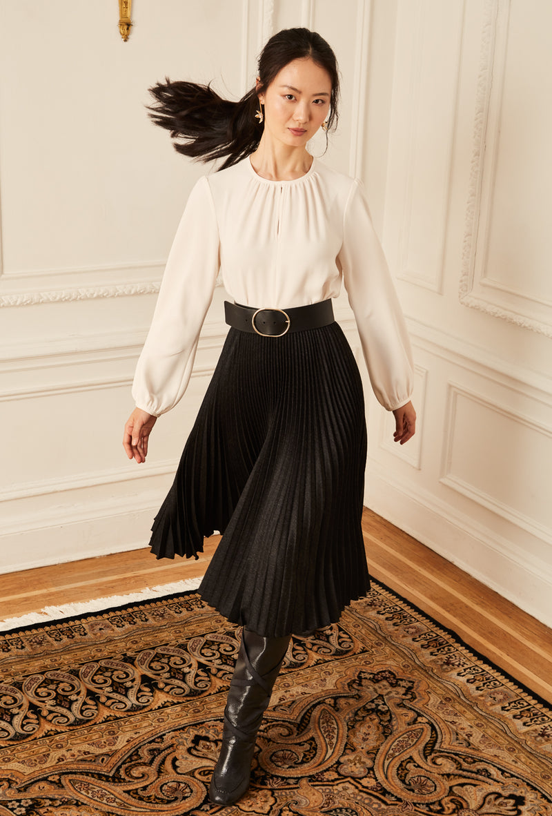 Pleated Skirt - Charcoal