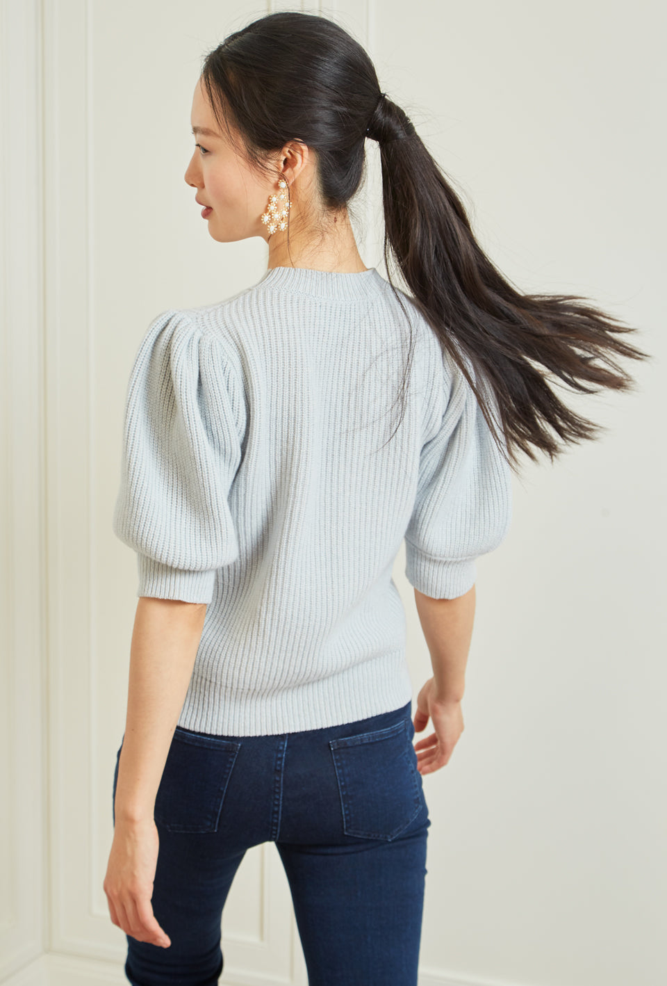 Cleo Pullover - Light Blue