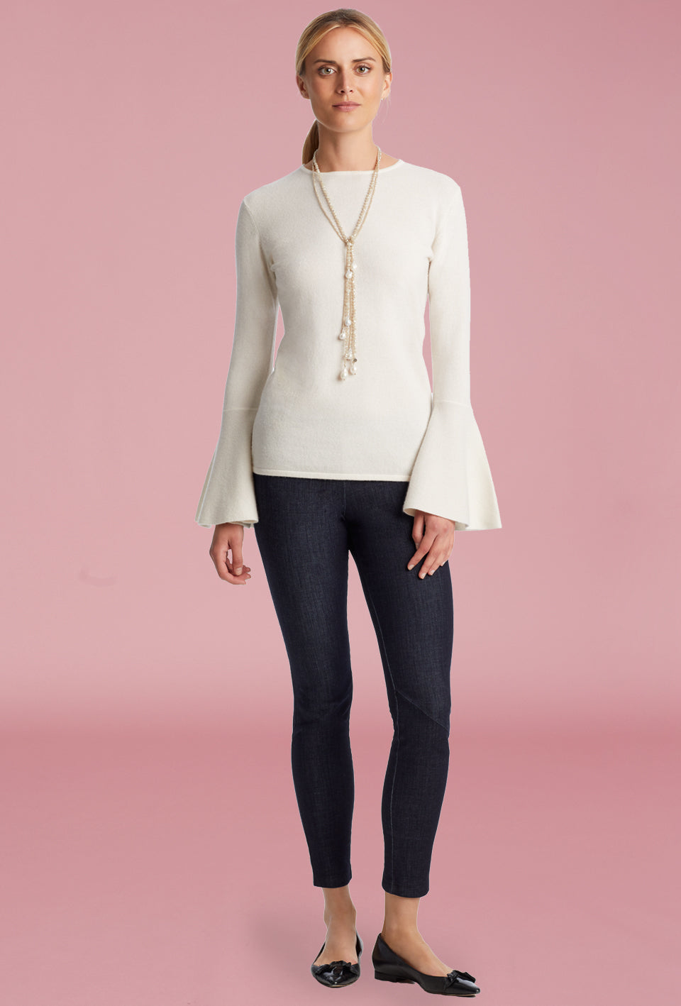 Flare Sleeve Sweater - Ivory