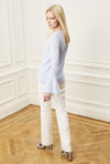 Flare Sleeve Sweater - Sky