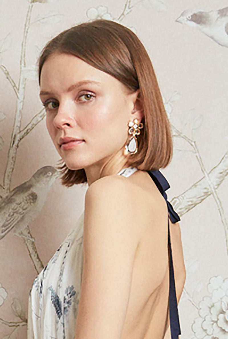 Crystal Daisy with Drop Earring - Pre Order