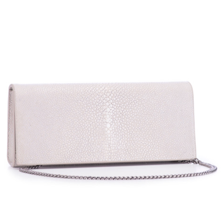 Shagreen Wallet Clutch - Cloud