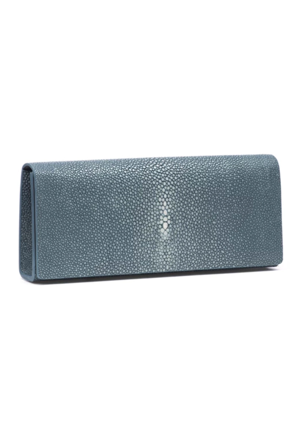 Shagreen Wallet Clutch - Navy