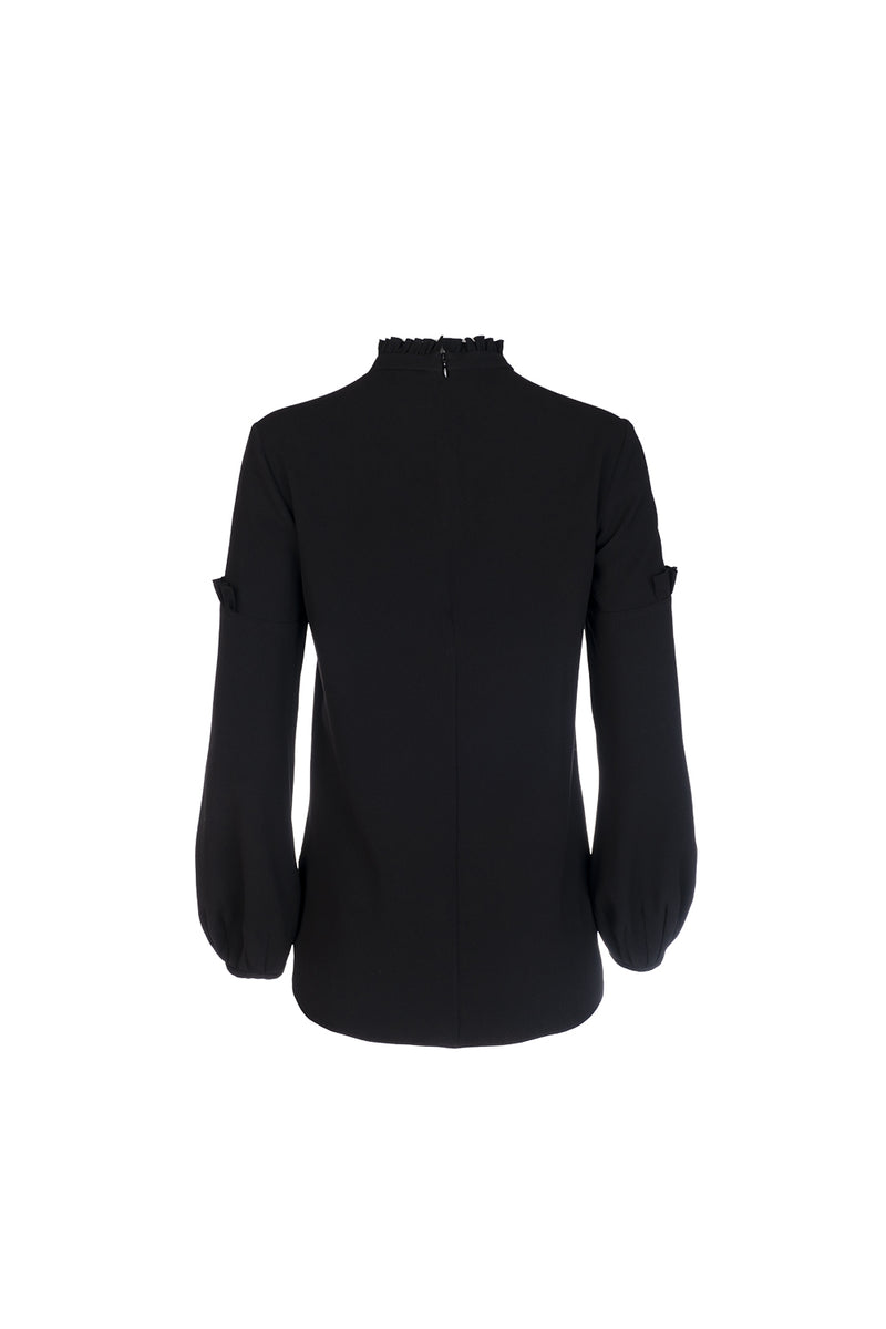 Volume Sleeve Blouse - Black
