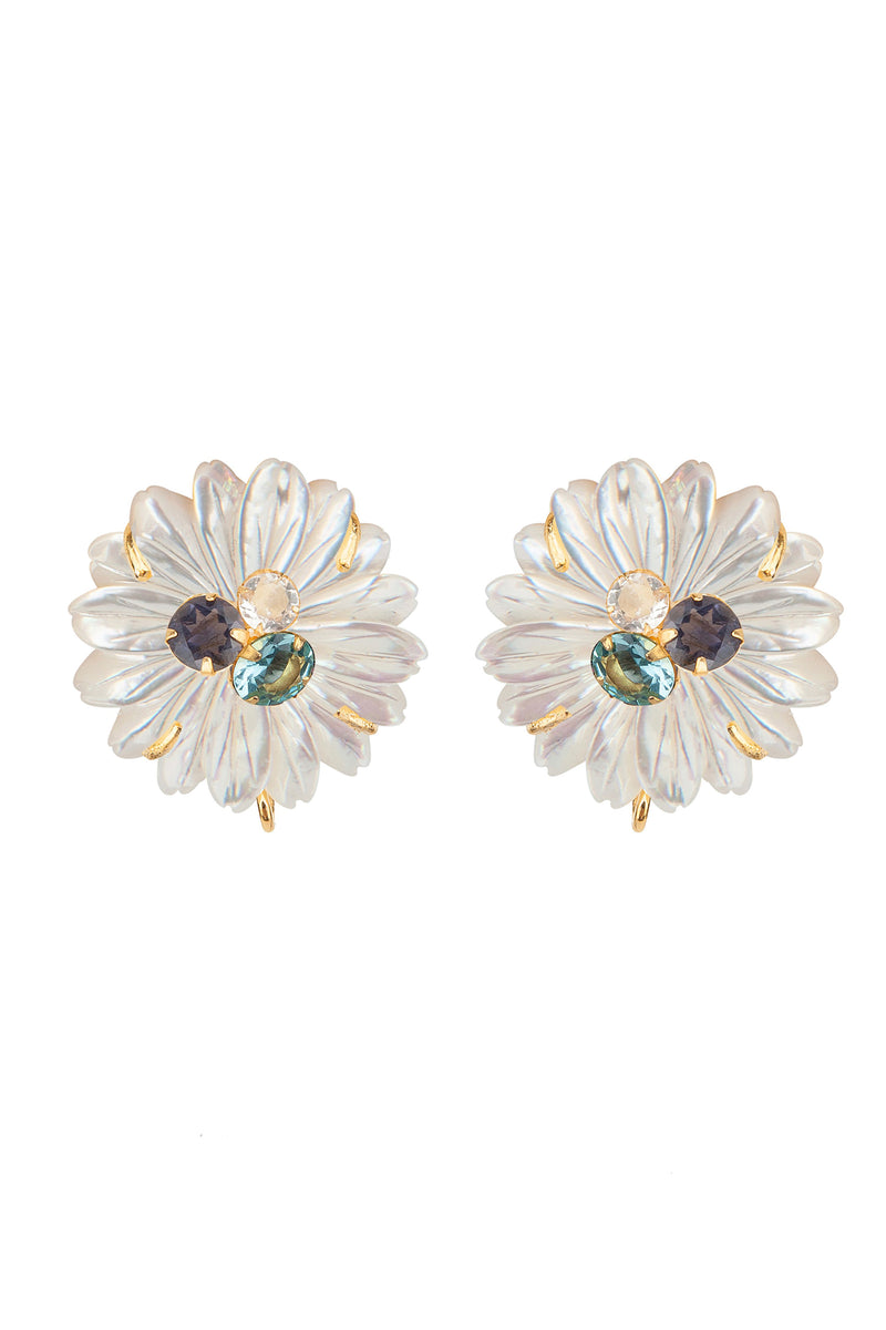 Pearl Daisy Earring - Mother of Pearl