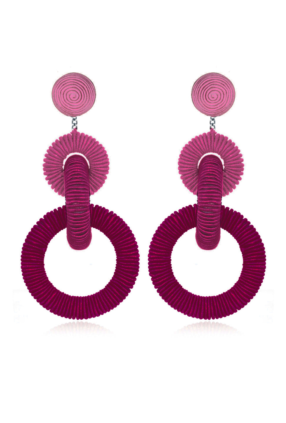 Corded Hoop Earring - Berry Ombre